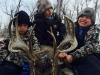 Cooper, Colton & Carson Gardner with Ren Gardner's deer